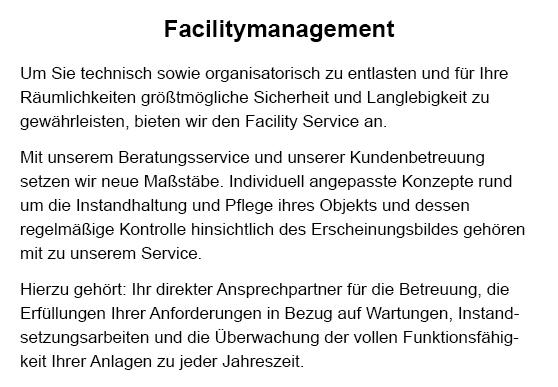 Facility management im Raum  Altdorf